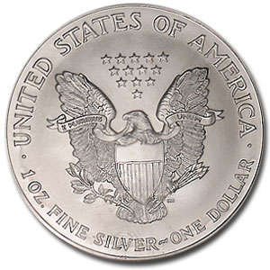 2001 Silver American Eagle - MS-69 NGC - American Flag Label